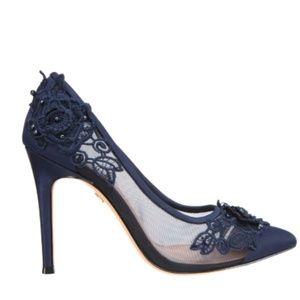 Blue Nina Donela-Satin Heels (Size 6)